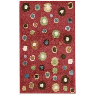 Nourison Perception Red Abstract Rug (2'3 x 3'9)