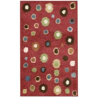 Nourison Perception Red Abstract Rug - 2'3 x 3'9