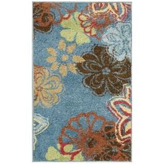 Nourison Perception Blue Floral Rug (2'3 x 3'9)