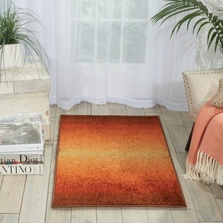Nourison Perception Rust Abstract Rug (2'3 x 3'9)