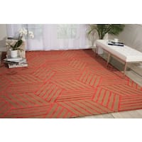 Nourison Strata Latte Red Graphic Rug (8' x 10')