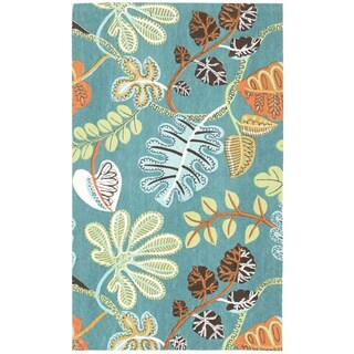 Waverly Art House A New Leaf Teal Area Rug by Nourison (2'3 x 3'9)
