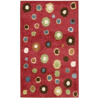 Nourison Perception Red Abstract Rug (2'3 x 7'6)