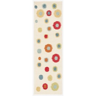 Nourison Perception Ivory Abstract Rug (2'3 x 7'6)