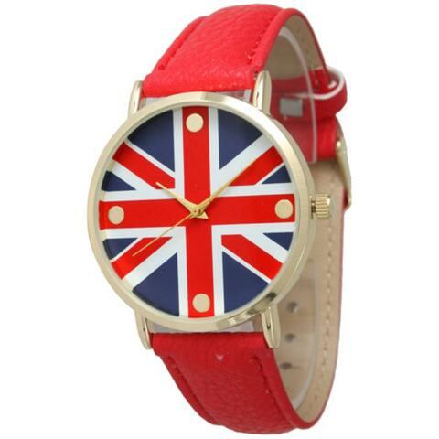 Olivia Pratt Women's 'Duchess' Leather Strap Watch