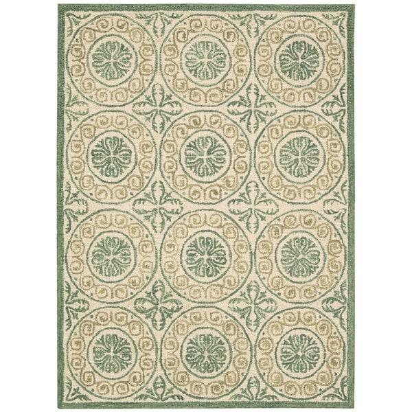 Nourison Marina Ivory Patterned Area Rug - 8' x 10'6
