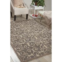 Nourison Marina Silver Patterned Area Rug - 8' x 10'6