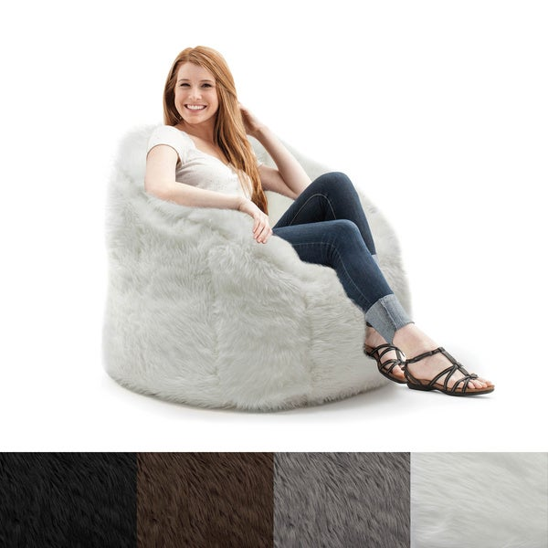 Big Joe Lux Milano Shag Fur Chair