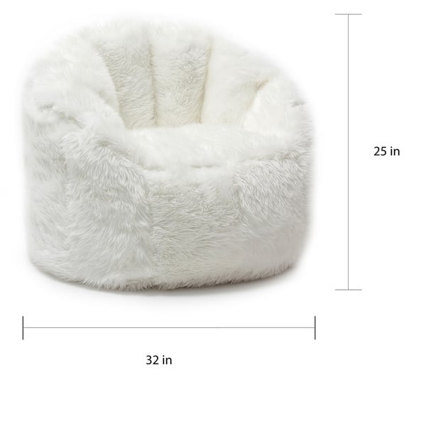 Groovy Shop Big Joe Lux Milano Shag Fur Chair Free Shipping Today Ibusinesslaw Wood Chair Design Ideas Ibusinesslaworg