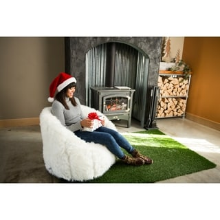 BeanSack Big Joe Milano Faux Fur Bean Bag Chair