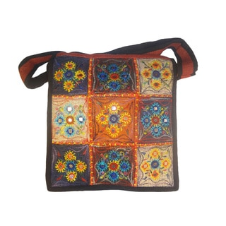 Beautiful Floral Embroidered 100-percent Hemp Bag (Nepal)