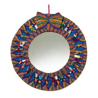 Handmade Worry Doll Mirror (Guatemala)