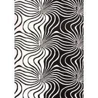 Cristall Anastasia Black Area Rug - 5'3 x 7'2