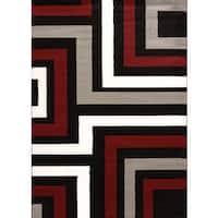 "Cristall Andie Grey Area Rug (5' 3  x  7' 2) - 5'3"" x 7'6"""