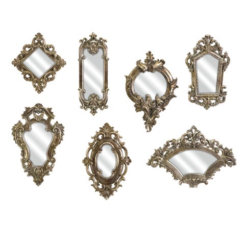 Grand Set of 7 Loletta Victorian Inspired Mirrors