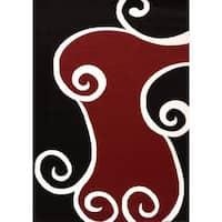 Cristall Serena Black Area Rug - 5'3 x 7'2