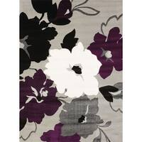 Silver Orchid Boyer Dasia Plum Area Rug - 7'10 x 10'6