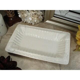 D'Lusso Designs Couture Line Ceramic Deep Rectangular Platter