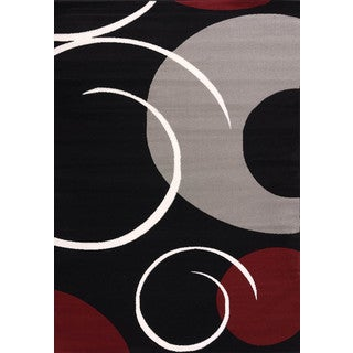 Cristall Jemma Red Area Rug - 7'10 x 10'6