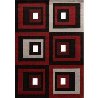 Cristall Shakira Red Area Rug (5' 3 x 7' 2)