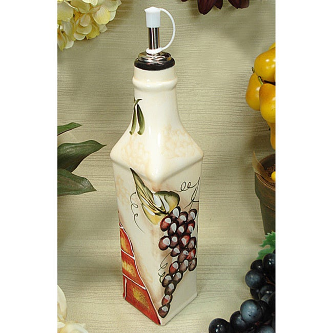 Lusso Wine Cheese Design Oil Bottle, Multi