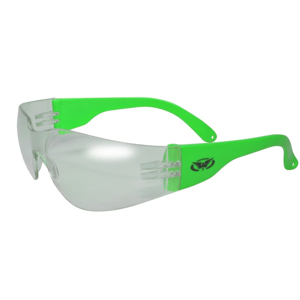 Global Vision Rider Gloss Frame with Clear Lens Eyewear