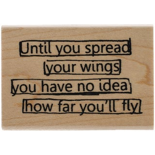 Dyan Reaveley's Dylusions Mounted Stamp-Wings Quote