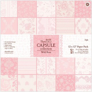 "Papermania Paper Pack 12""X12"" 32/Pkg-Wild Rose