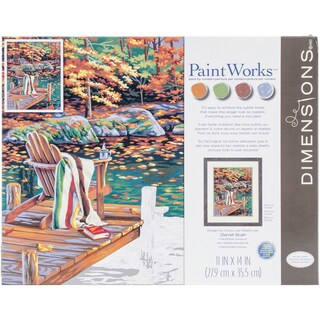 """Paint By Number Kit 14""""X11""""-Golden Pond"""