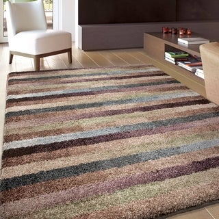 Carolina Weavers Grand Comfort Collection Cool Stripes Multi Area Rug (5'3 x 7'6)