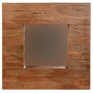 Linon Mahogany Leaf Square Mirror