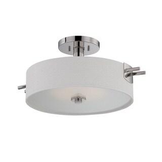 Nuvo Claire 1 Light LED Semi-Flush Mount