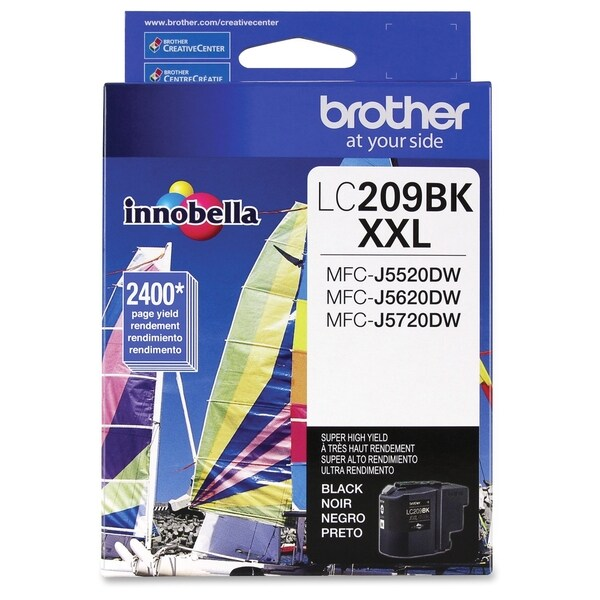 Brother Genuine LC209BK Super High Yield Black Ink Cartridge