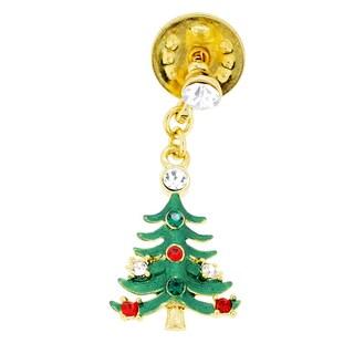 Green Christmas Tree Lapel Pin (Option: Yellow)