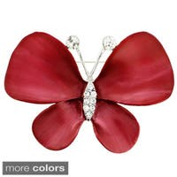Crystal Butterfly Pin Brooch