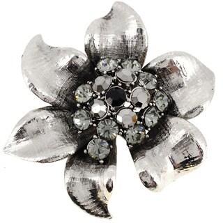 Crystal Flower Pin Brooch