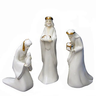 Kurt Adler 7.25-inch Porcelain Three Kings Set