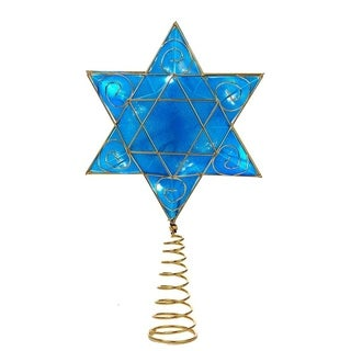 Kurt Adler 13-inch Battery-operated Hanukkah Treetop with 8 LED Lights