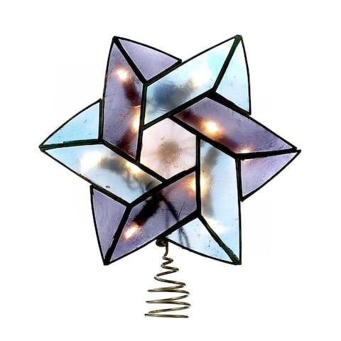 Kurt Adler 10-Light 8.5-Inch Capiz Color Star of David Treetop