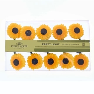 Kurt Adler UL 10-light Sunflower Light Set