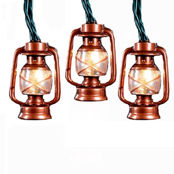 Kurt Adler Ul 10 Light Br Lantern Set Free Shipping On Orders Over 45 9539496
