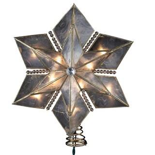 Kurt Adler 10-light 9-inch 6-point Capiz Gold Star Treetop