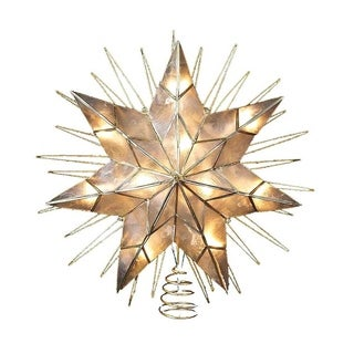 Link to Kurt Adler 14-Inch 7-Point Natural Capiz Star Lighted Treetop Similar Items in Decorative Accessories
