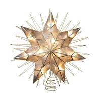 Kurt Adler 14-inch 7-point Natural Capiz Star Lighted Treetop