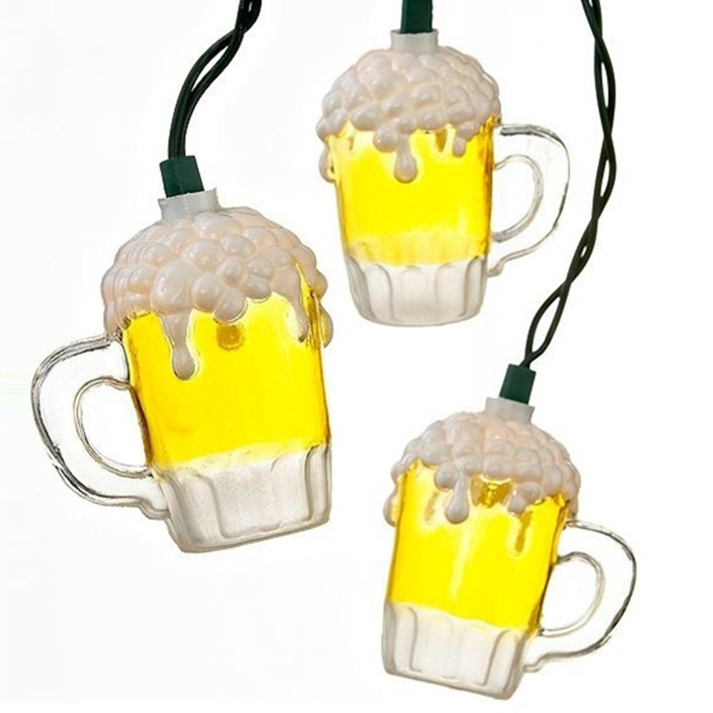 Kurt S. Adler 10-light Plastic Beer Mug Light Set (Multi-...