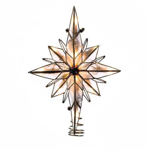 Kurt Adler 10-Light 10.5-Inch Multi-Pointed Bethlehem Star Treetop