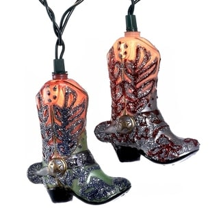 Kurt Adler 10-light Boots with Glitter Indoor Light Set