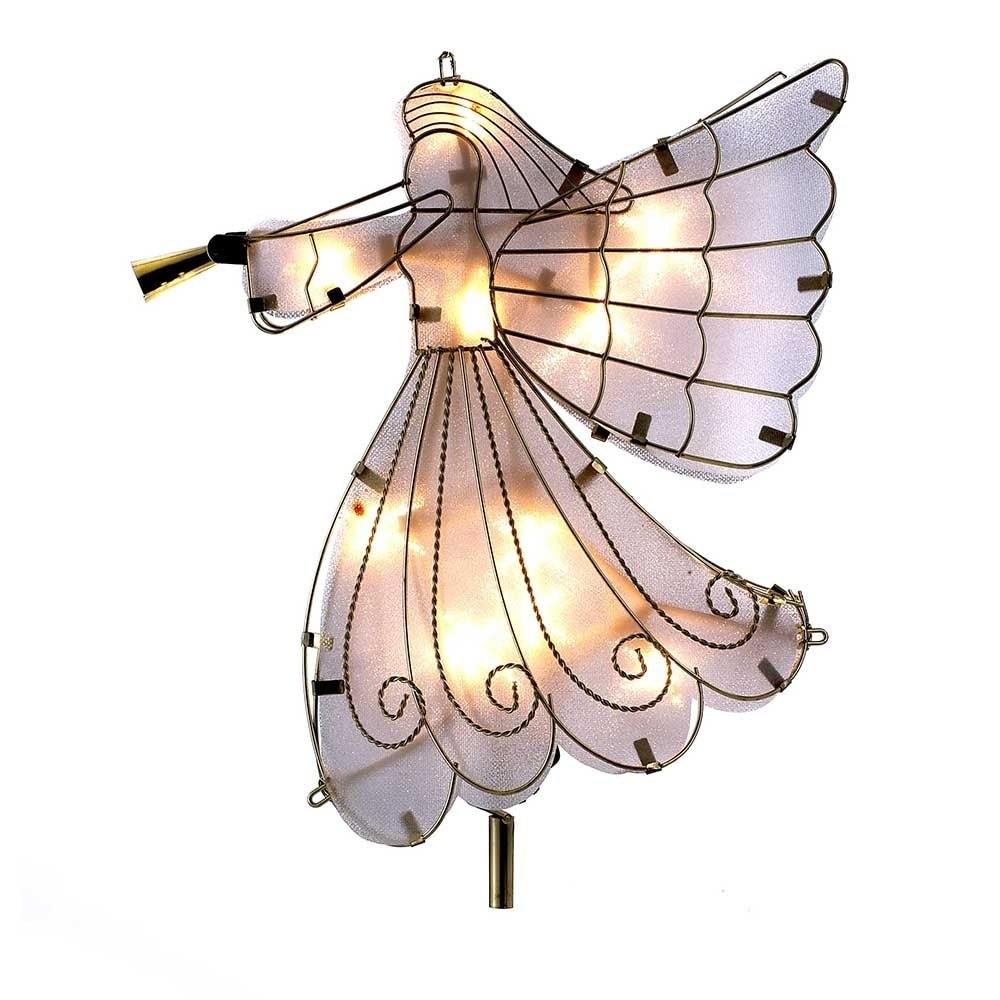 Kurt S. Adler UL 10-light Angel Treetop (Multi-Color Orna...