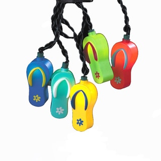 Kurt Adler 10-light Plastic Flipflop Light Set