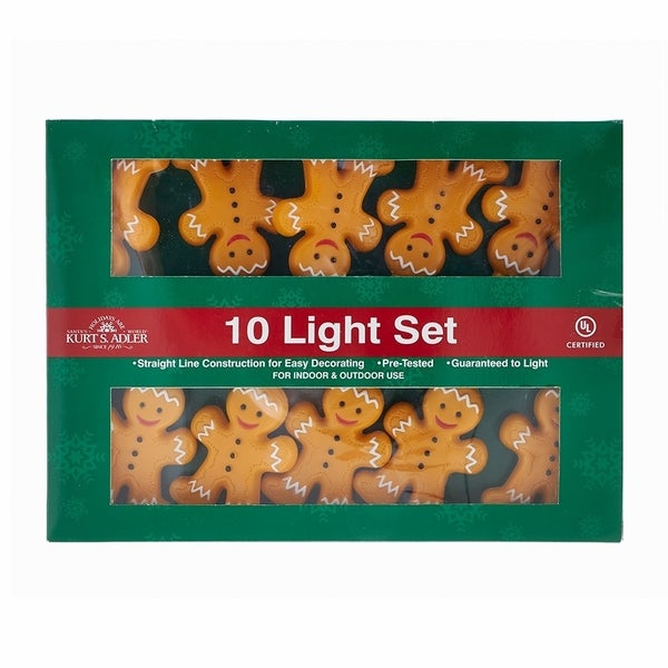 Kurt Adler 10-Light Gingerbread Light Set